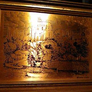 Windsor Castle Copper Etching (framed)